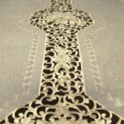 Prestige Gift Gallery Roman Two-Tone Embroidered 182.9cm x 320cm Formal Tablecloth