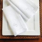 Cathys Concepts White Linen Hemstitch Napkins Set of 6