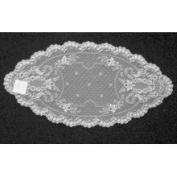 Heritage Lace Floret 35.6cm by 71.1cm Doily, White, Set of 2