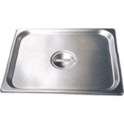 Winco SPSCS - 1/6-Size Solid Steam Table Pan Cover, Stainless