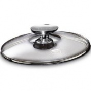 Berndes 007018 7 in. Tempered Glass Lid with Stainless Knob