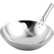 Winco Stainless Steel Nailed Joint Chinese Wok 35.6cm
