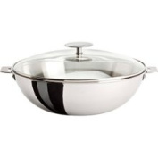 Cristel Multiply 3-Ply Stainless Wok with Lid 3.9l