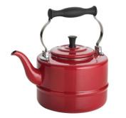 Bonjour 1.9l. Porcelain Teakettle in Black 53867