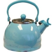 Calypso Basics 2.1l Whistling Teakettle with Glass Lid Turquoise