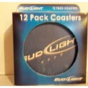 Boelter 179626 Bud Light Coasters - 12 Pack
