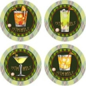 Set of Four 19th Hole Occasion Coasters