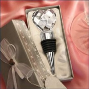Fashioncraft 2217 Chrome Bottle Stopper Favour Crystal Heart Wedding