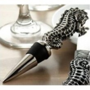 India Handicrafts Tropical Ocean Seahorse Wine Bottle Stopper Topper