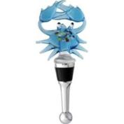 Lsarts, Inc Blue Crab Bottle Stopper in Art Glass
