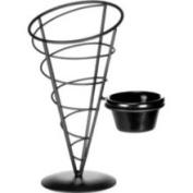 Vertigo Collection Appetiser Cone with Ramekin 5'' x 9'' Powder Coated