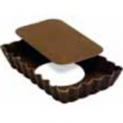 Gobel Small Rectangular Tart Pan Non Stick Loose Removable Bottom