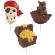 Wilton Lollipop Mould Pirate 3 Cavities 3 Designs