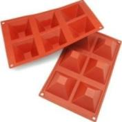 Freshware 6-Cavity Pyramid Silicone Mould and Baking Pan Small