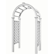 New England Arbours VA68103 Livingston Garden Arbour - White