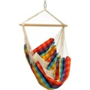 Byer of Maine A203017 Brazil Fabric Hammock Chair - Rainbow Cotton