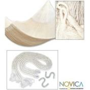 Novica 110378 Large Deluxe Cotton 'Classic White' Hammock