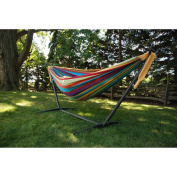 Vivere UHSDO9 Combo - Steel Stand with Double Hammock - 2.74m