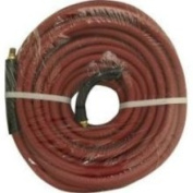 Apache 21777 3/8 x 50' Red Rubber Hose Coupled Brass