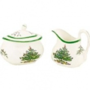 Spode Serveware, Christmas Tree Sugar and Creamer Set