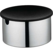 Stelton 1100 Steel Sugar Bowl with Black Lid