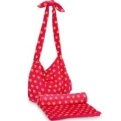 Orange and Pink Sorbet Spots Crossbody Bag and Beach Towel Set