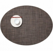 Chilewich Mini Basketweave Oval Placemat : Dark Walnut