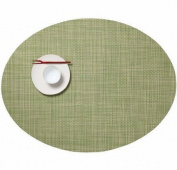 Chilewich Mini Basketweave Oval Placemat : Dill