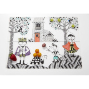 Hide and Seek Placemat in Black Modern-Twist