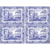 Spode Table Linens, Set of 4 Blue Italian Placemats