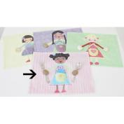 Little Acorn S11T02 Blue girl placemat