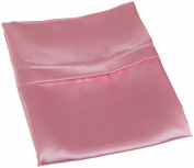 Divatex Home Fashions Royal Opulance Zippered Satin Pillow Case, Pink