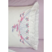 Fairway Southern Bell Stamped Lace Edge Pillowcase 76.2cm X50.8cm 2/Pkg