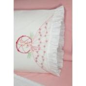Fairway Umbrella Lady Stamped Lace Edge Pillowcase 76.2cm X50.8cm 2/Pkg