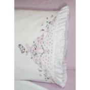 Fairway Miss Bell Lady Stamped Lace Edge Pillowcase 76.2cm X50.8cm 2/Pkg