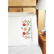 Janlynn 021-1104 Poppy Garden Pillowcase, 20x30