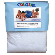 Colgate Wee-A-Way Waterproof Fitted Portable Crib Mattress Cover