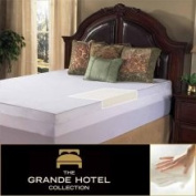 Grande Hotel Collection 7.6cm Twin/ Full-Size Memory Foam Mattress Topper with Egyptian Cotton Cover