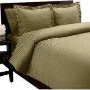 Egyptian Cotton 550 Thread Count Striped Duvet Set