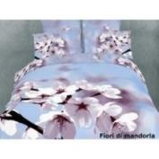 2 Decorate Inc DM401K Luxury Bedding King size Egyptian Cotton Floral Duvet Cover Set Fiori di mandorla Dolce Mela