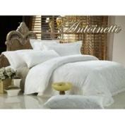 2 Decorate Inc DM446K Percale Jacquard King Bedding 6PCs Egyptian Cotton Duvet Cover Set Antoinette by Dolce Mela