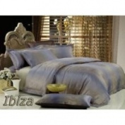 2 Decorate Inc DM449K Percale Jacquard King Bedding 6PCs Egyptian Cotton Duvet Cover Set Ibiza by Dolce Mela
