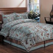 Home Fashions International Bella Floral Queen-size Comforter Set