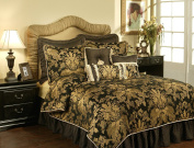 Pacific Coast Home Furnishings Inc. LIS320816-Q Austin Horn Classics Lismore Black Four-Piece Queen Bedding Collection