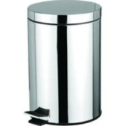 HDS Trading Stainless Steel Finish 12 Litre Waste Basket - Wb0008