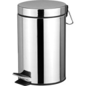 HDS Trading Wb00082 Waste Basket 20 Litre Stainless Steel Finish