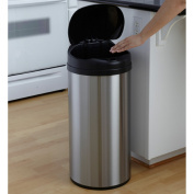 Nine Stars USA DZT 49-8-13 Gallon Stainless Steel and Black Infrared Trash Can
