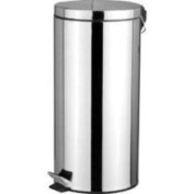 HDS Trading 30 Litre Stainless Steel Waste Basket - Wb00083