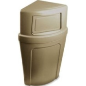 Continental Mfg. Co. CMC8325BE Corner Round Receptacle- 21 Gallon- 18-.50in.x14in.x39in.- Beige