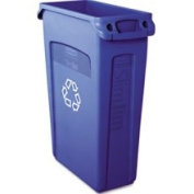 Rubbermaid 354007BE Slim Jim Recycling Container with Venting Channels Plastic 23 Gallons Blue
